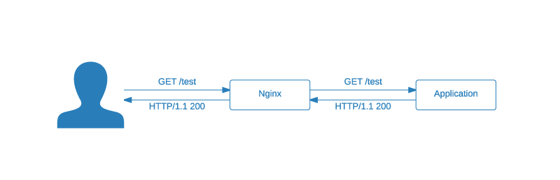 Nginx Maintenance Mode: initial situation application request